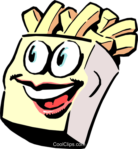 Cartoon fries Royalty Free Vector Clip Art illustration food0440