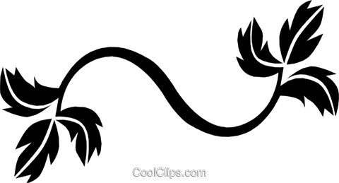 Leaves Royalty Free Vector Clip Art illustration natu0134