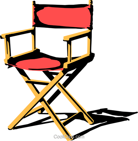 Director's chair Royalty Free Vector Clip Art illustration arts0147