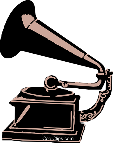 Gramophone Royalty Free Vector Clip Art illustration arts0148
