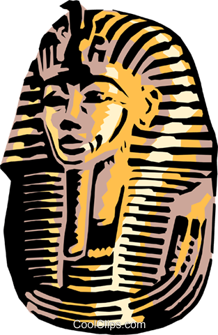 King Tut's mask Royalty Free Vector Clip Art illustration arts0150