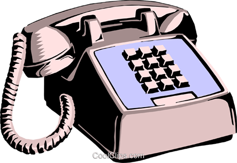 Telephone Royalty Free Vector Clip Art illustration busi0408