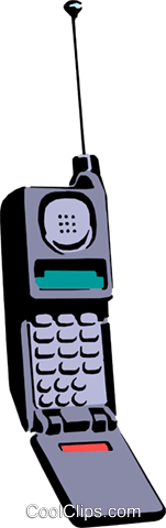 Cellular phone Royalty Free Vector Clip Art illustration busi0410