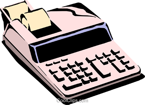 Electronic calculator Royalty Free Vector Clip Art illustration busi0411