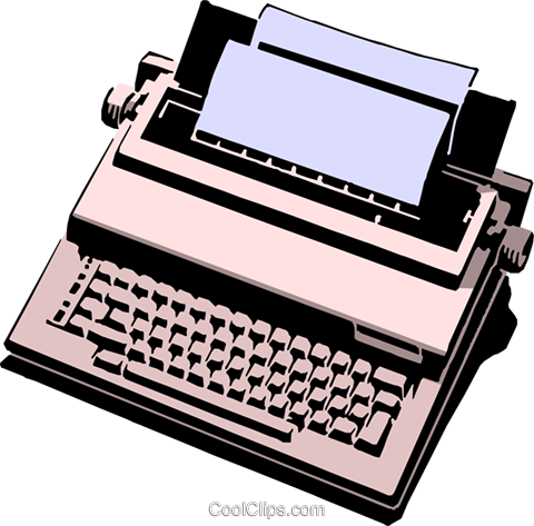 Typewriter Royalty Free Vector Clip Art illustration busi0414