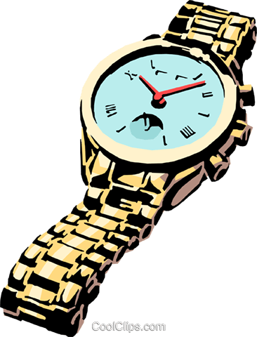 Watch Royalty Free Vector Clip Art illustration busi0415