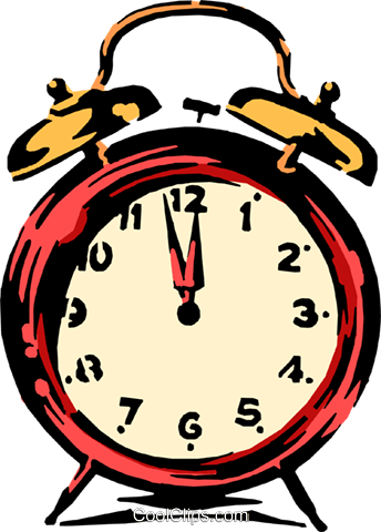 Alarm clock Royalty Free Vector Clip Art illustration busi0422