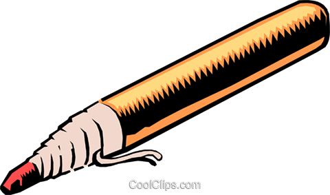 Marking pencil Royalty Free Vector Clip Art illustration busi0423