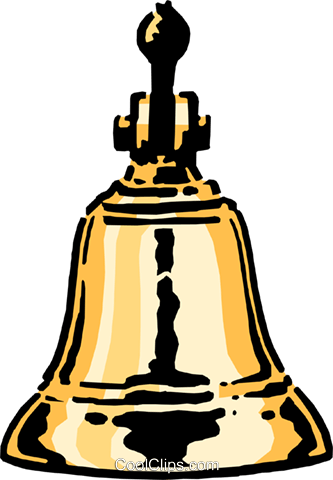 Brass bell Royalty Free Vector Clip Art illustration busi0424