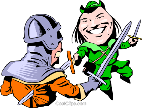 Cartoon Robin Hood Royalty Free Vector Clip Art illustration cart0759