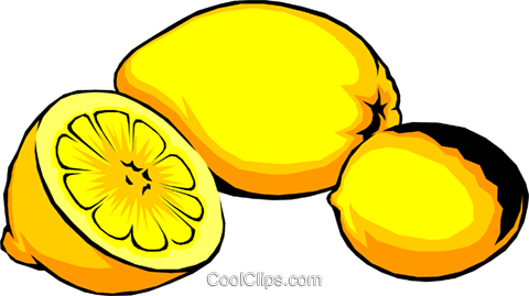 Sliced lemons Royalty Free Vector Clip Art illustration food0192