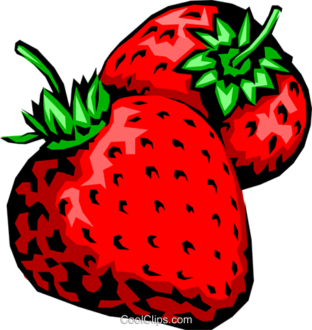 Strawberries Royalty Free Vector Clip Art illustration food0214