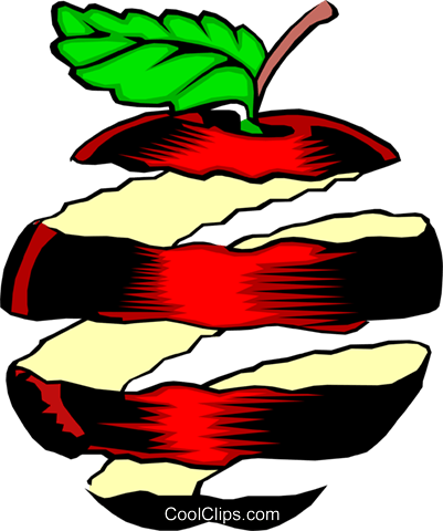 Apple peel Royalty Free Vector Clip Art illustration food0228