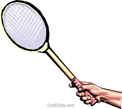 Badminton racket Royalty Free Vector Clip Art illustration hand0153