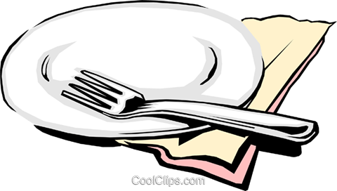 Place setting Royalty Free Vector Clip Art illustration hous0394