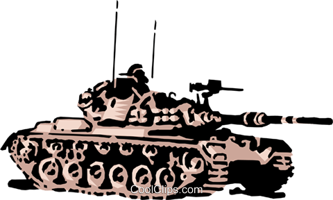 Tank Royalty Free Vector Clip Art illustration mili0067