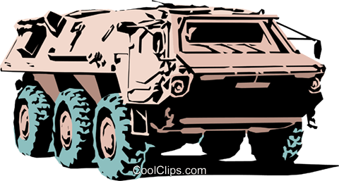 LAV vehicle Royalty Free Vector Clip Art illustration mili0068