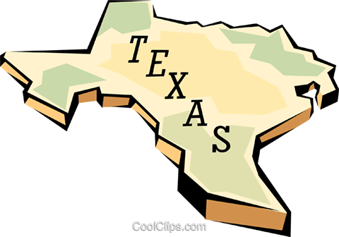 Texas state map Royalty Free Vector Clip Art illustration worl0590