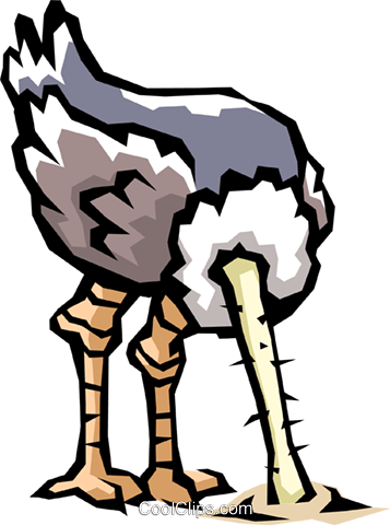 Ostrich Royalty Free Vector Clip Art illustration anim0480