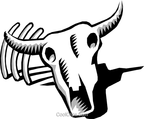 Cow skull Royalty Free Vector Clip Art illustration anim0617