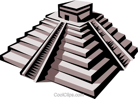Inca Temple Royalty Free Vector Clip Art illustration arch0138