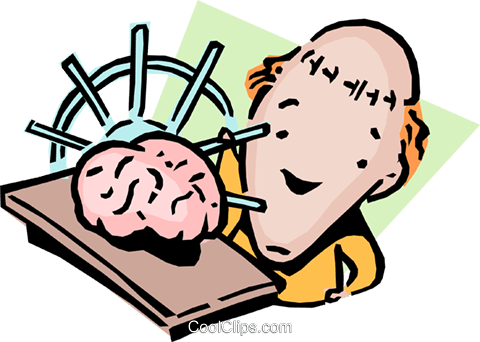 Racking his brain Royalty Free Vector Clip Art illustration cart0863