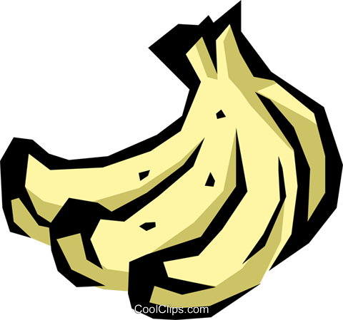 Bananas Royalty Free Vector Clip Art illustration food0258