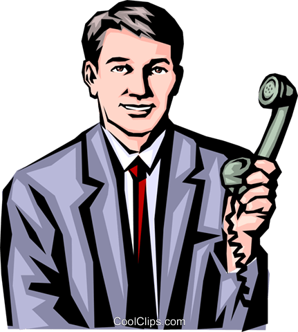 Man with phone Royalty Free Vector Clip Art illustration peop0644
