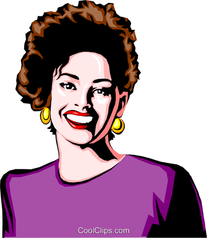 Woman smiling Royalty Free Vector Clip Art illustration peop0649