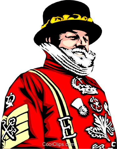 Beefeater Royalty Free Vector Clip Art illustration peop0655
