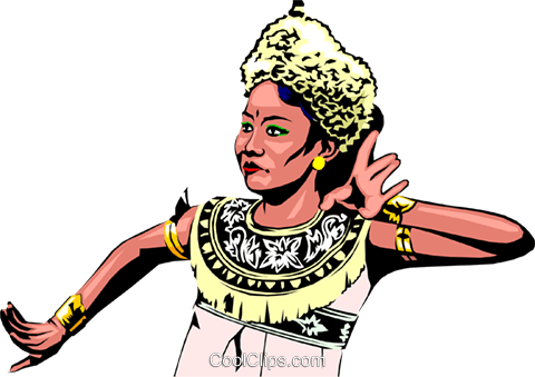 Indonesian woman Royalty Free Vector Clip Art illustration peop0657