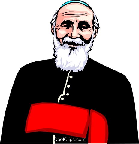 Priest Royalty Free Vector Clip Art illustration peop0668