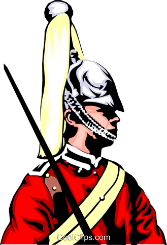 British Guard Royalty Free Vector Clip Art illustration peop0670