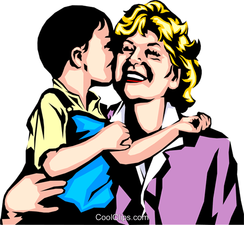 Woman & child Royalty Free Vector Clip Art illustration peop0672