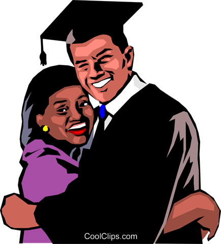 Graduation day Royalty Free Vector Clip Art illustration peop0684