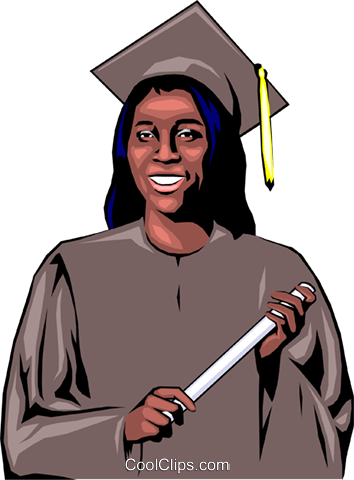 Graduate Royalty Free Vector Clip Art illustration peop0685