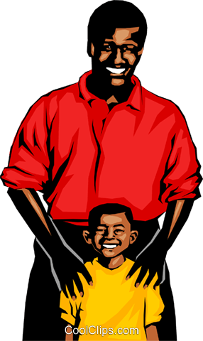 Father & son Royalty Free Vector Clip Art illustration peop0690