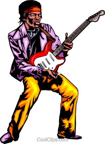 Guitar player Royalty Free Vector Clip Art illustration peop0729