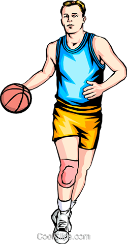 Man playing basketball Royalty Free Vector Clip Art illustration peop1261