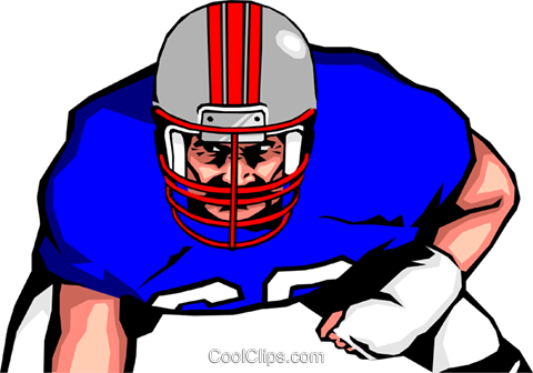 Football player Royalty Free Vector Clip Art illustration peop1275