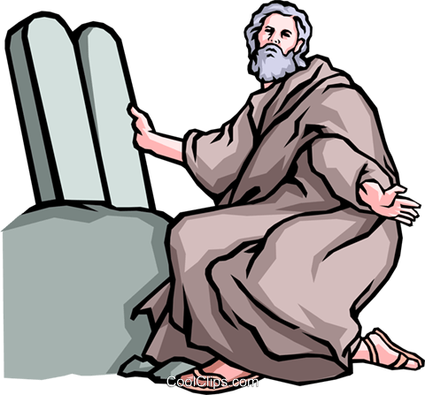 Moses & the Ten Commandments Royalty Free Vector Clip Art illustration reli0019