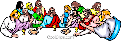 The Last Supper Royalty Free Vector Clip Art illustration reli0020