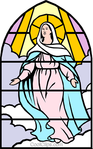 Blessed Assumption Royalty Free Vector Clip Art illustration reli0028