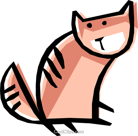 Cool cat Royalty Free Vector Clip Art illustration anim0510