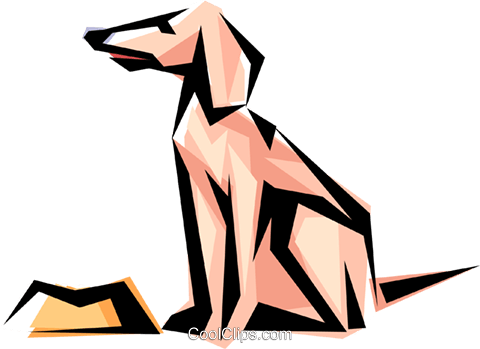 Cool dog Royalty Free Vector Clip Art illustration anim0512