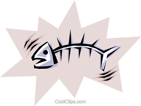 Cool fish Royalty Free Vector Clip Art illustration anim0518