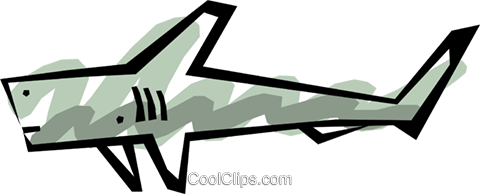 Shark Royalty Free Vector Clip Art illustration anim0519