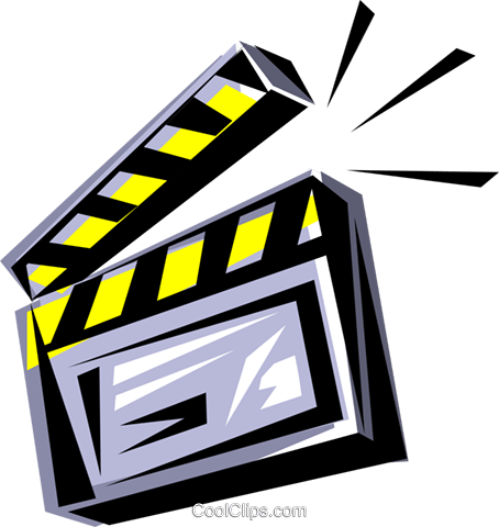 Clapperboard Royalty Free Vector Clip Art illustration arts0048