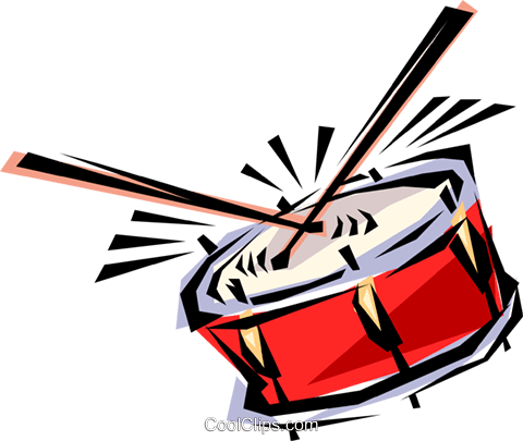 Cool drum Royalty Free Vector Clip Art illustration arts0049