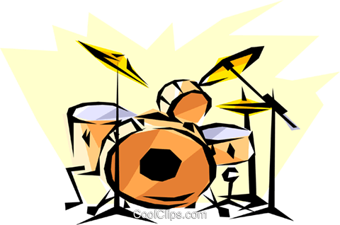 Cool drums Royalty Free Vector Clip Art illustration arts0050